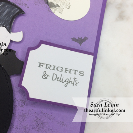 A Paper Pumpkin Thing Blog Hop Frights and Delights alternative Halloween card sentiment detail from theartfulinker.com