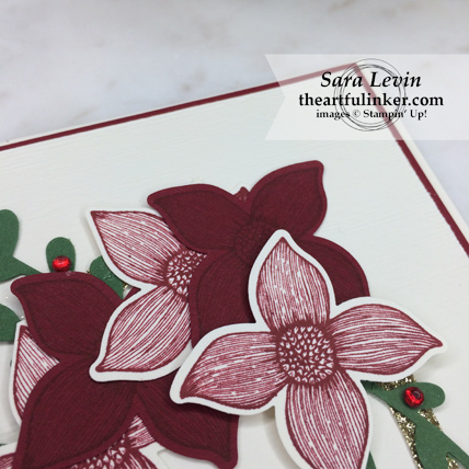 Christmas with Pop of Petals card from theartfulinker.com