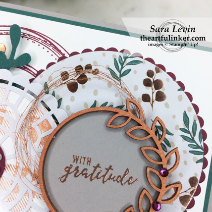 Creating Kindness Blog Hop Circle Game card - Joyous Noel designer paper detail - from theartfulinker.com