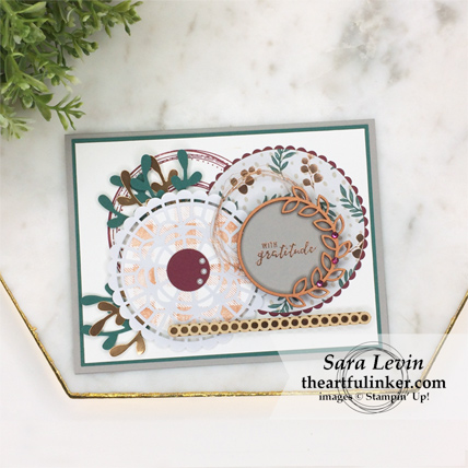 Creating Kindness Blog Hop Circle Game card using Buffalo Check and Swirly Frames from theartfulinker.com