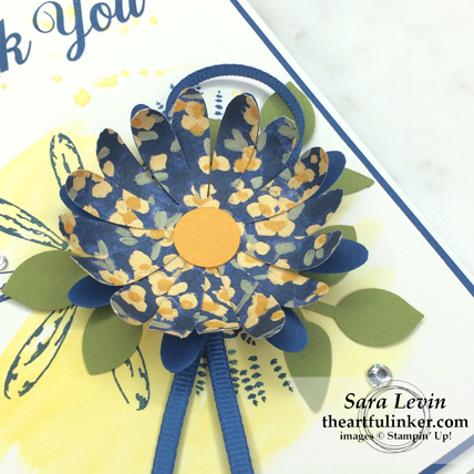 Creation Station Blog Hop Power of the Punch Daisy Delight card - flower detail - from theartfulinker.com