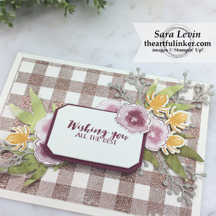 First Frost with Buffalo Check card - sentiment tag detail - from theartfulinker.com