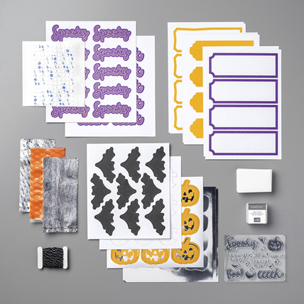 Frights and Delights Paper Pumpkin Kit 149671 from theartfulinker.com