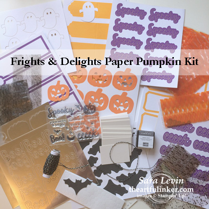 Frights and Delights September 2018 Paper Pumpkin kit contents from theartfulinker.com