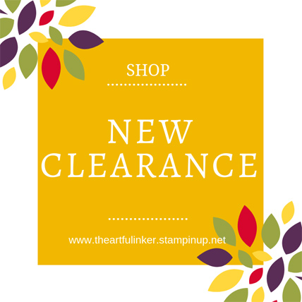 New Clearance Rack Products September 2018 from Stampin' Up! shop www.theartfulinker.stampinup.net