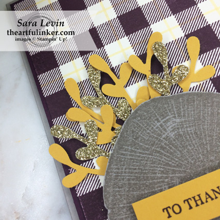 OSAT Blog Hop I Need a Hero Rooted in Nature card - sprig punch detail - from theartfulinker.com