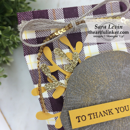 OSAT Blog Hop I Need a Hero Rooted in Nature gift pouch - sheer embossing detail - from theartfulinker.com