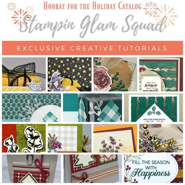 Stampin Glam Squad Holiday Tutorial Bundle from theartfulinker.com