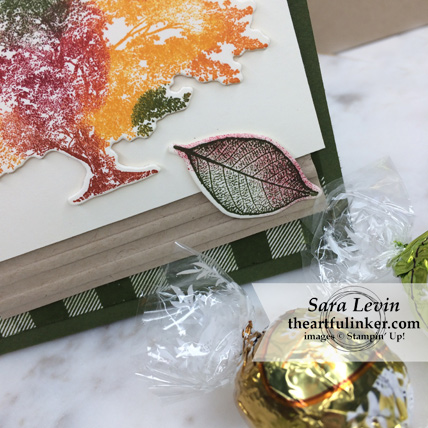 Stamping Sunday Blog Hop Corrugated Embossing Folder Rooted in Nature favor - leaf detail - from theartfulinker.com