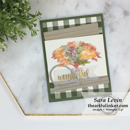 Stamping Sunday Blog Hop Corrugated Embossing Folder with Rooted in Nature card from theartfulinker.com
