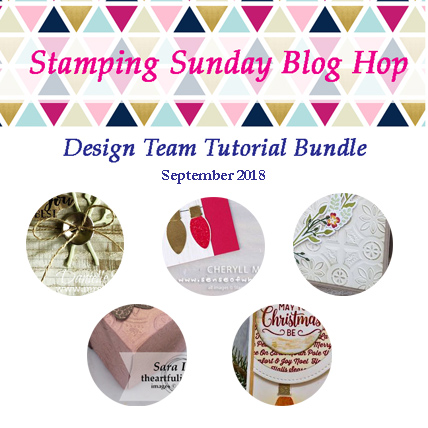 Stamping Sunday September 2018 Tutorial Bundle from theartfulinker.com