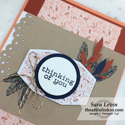 A Paper Pumpkin Thing Blog Hop Friends of a Feather alternative card - detail - from theartfulinker.com