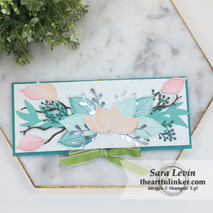 Creation Station Blog Hop Layers of Leaves Rooted in Nature card from theartfulinker.com