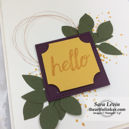 Darling Label in Jewel Tones card - detail - from theartfulinker.com