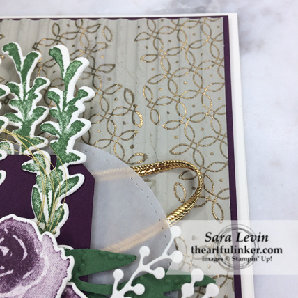 First Frost Embossed card - Graceful Garden embossed Corrugated embossing - from theartfulinker.com