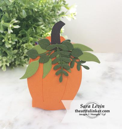 OSAT Blog Hop Ghouls Goblins and Gourds Floral Frames pumpkin treat holder from theartfulinker.com