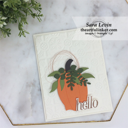 OSAT Blog Hop Ghouls Goblins and Gourds Floral Frames fall card from theartfulinker.com