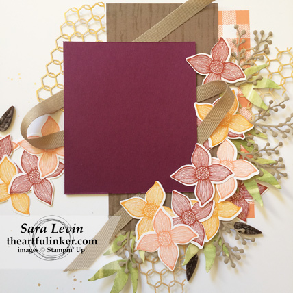 Pop of Petals and Buffalo Check Scrapbook Layout - photo mat detail - from theartfulinker.com