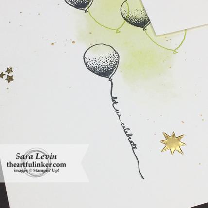Scrapbooking Global Blog Hop October 2018 Balloon Celebrations celebrate scrapbook layout - balloon detail - from theartfulinker.com