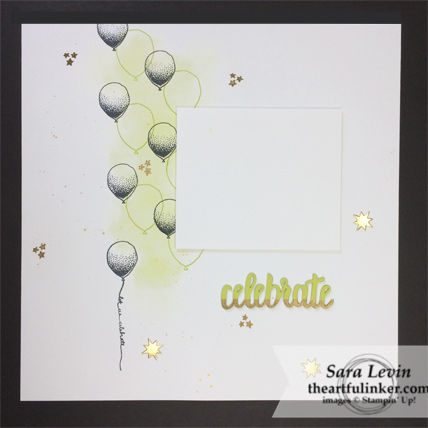 Scrapbooking Global Blog Hop October 2018 Balloon Celebrations celebrate scrapbook layout from theartfulinker.com