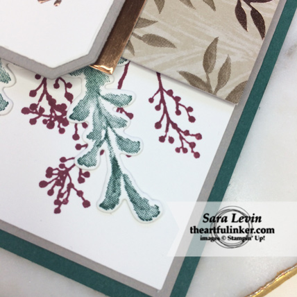 Stamping Sunday Blog Hop First Frost card - stamping detail - from theartfulinker.com
