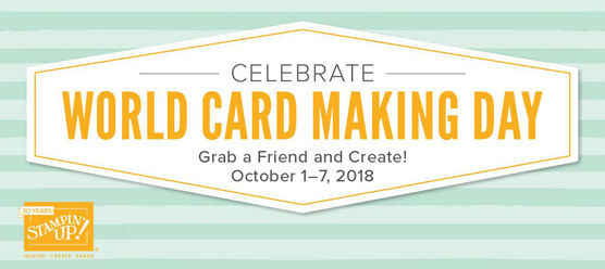 World Card Making Day October 2018 save 10% on select Stampin' Up! products - theartfulinker.com