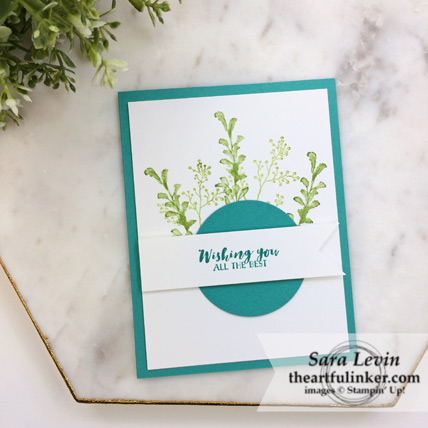First Frost Birthday card for the beginning or busy crafter #simplestamping - from theartfulinker.com