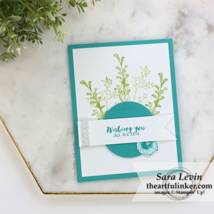 First Frost Birthday card for the casual crafter from theartfulinker.com