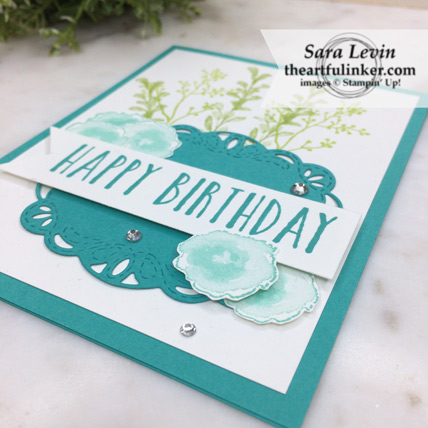 First Frost Birthday card stepped up - angled view - from theartfulinker.com
