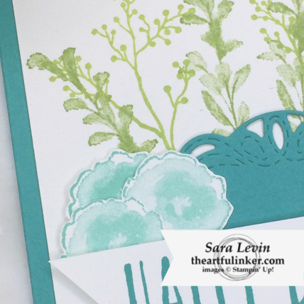 First Frost Birthday card stepped up detail - from theartfulinker.com