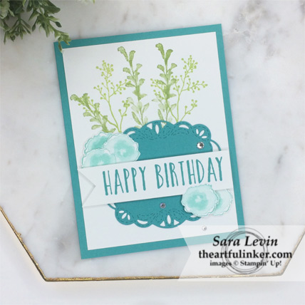 First Frost Birthday card for the avid crafter - stepped up - from theartfulinker.com
