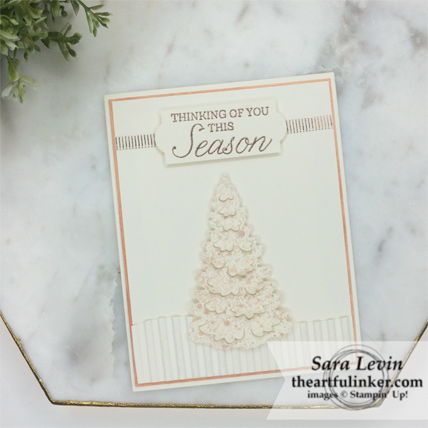 OSAT Blog Hop clean and simple Winter Woods card from theartfulinker.com