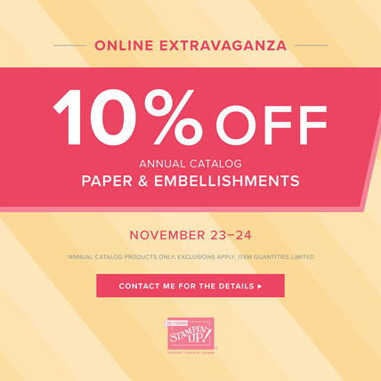 Save 10% on Almost Everything in Online Extravaganza Paper and Embellishments sale from theartfulinker.com