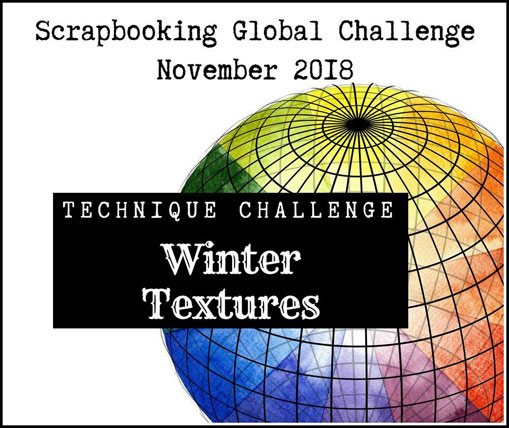 Scrapbooking Global Blog Hop November 2018 Winter Textures from theartfulinker.com