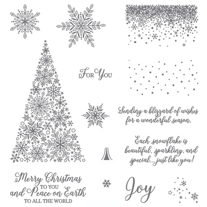 Snow is Glistening stamp set available November 1 - 30 from theartfulinker.com