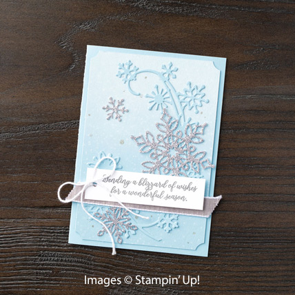 Snow is Glistening card with Velveteen Paper from theartfulinker.com