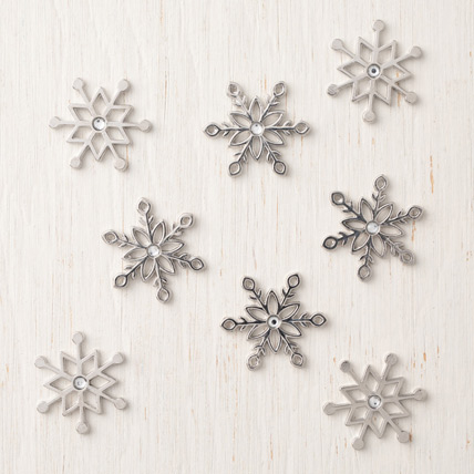 Snowflake Trinkets available November 1 - 30 from theartfulinker.com
