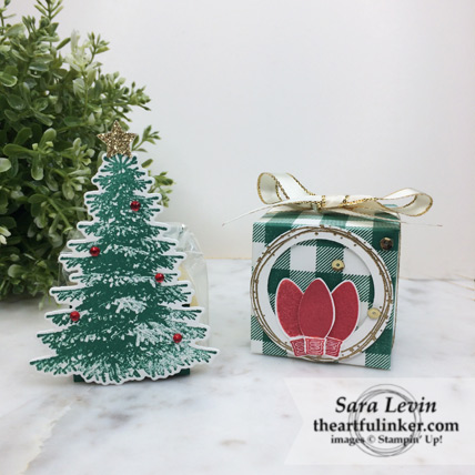 Christmas favors for Stamping Sunday Blog Hop Wrap It Up from theartfulinker.com