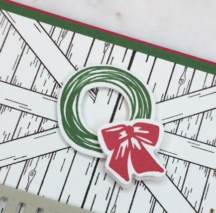 Winter Woods Barn Door Christmas card from theartfulinker.com