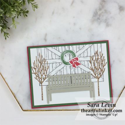Winter Woods Barn Door Christmas Card