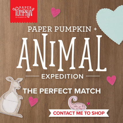 Animal Expedition Paper Pumpkin Kit for January 2019 get it at http://bit.ly/2LCixCw and choose Sara Levin as your demonstrator.