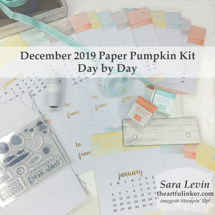 Day by Day, December 2018 Paper Pumpkin Kit see theartfulinker.com for details.