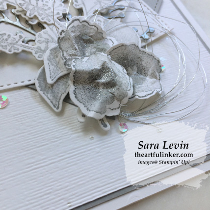 First Frost in Smoky Slate card - flower detail - from theartfulinker.com