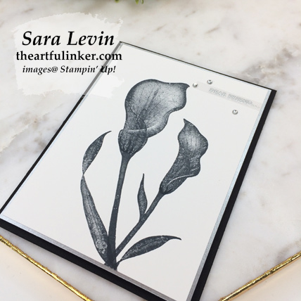 Lasting Lily with Galvanized Paper - angled view - from theartfulinker.com