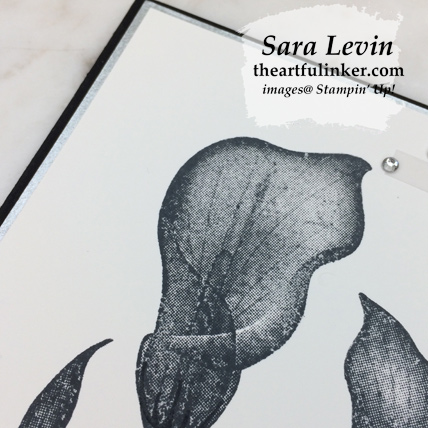 Lasting Lily with Galvanized Paper - calla lily detail - from theartfulinker.com