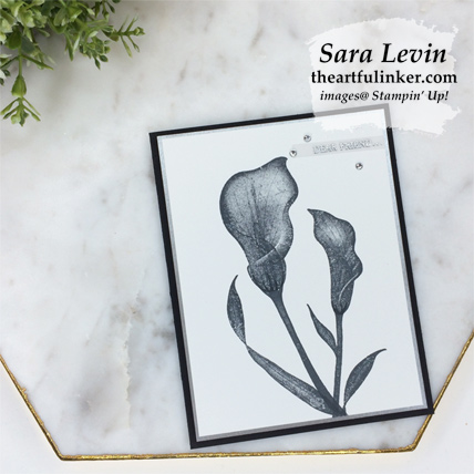 Lasting Lily with Galvanized Paper from theartfulinker.com