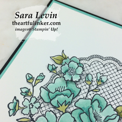 Lovely Lattice card, Stampin' Blends detail - for Stamping Sunday Blog Hop Sale a Bration 2019 from theartfulinker.com