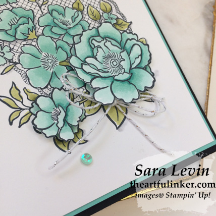 Lovely Lattice card, flower detail - for Stamping Sunday Blog Hop Sale a Bration 2019 from theartfulinker.com