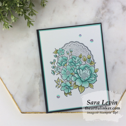 Lovely Lattice card with Stampin' Blends - for Stamping Sunday Blog Hop Sale a Bration 2019 from theartfulinker.com