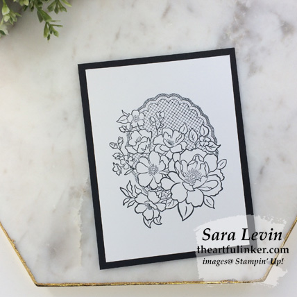 Lovely Lattice card for Stamping Sunday Blog Hop Sale a Bration 2019 from theartfulinker.com